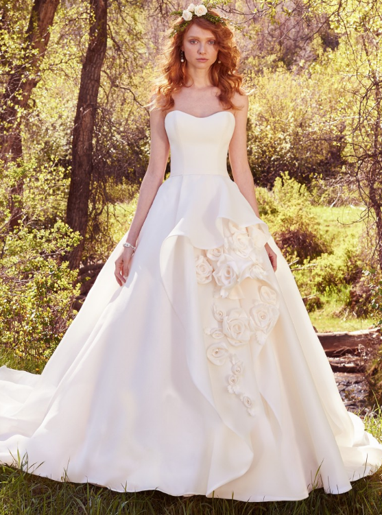 6204623a703 Beauty and the Beast wedding dress! We all know Belle s classic and  beautiful gold dress she wore in the original